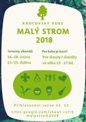 RK Malý strom 2018 - plakát
